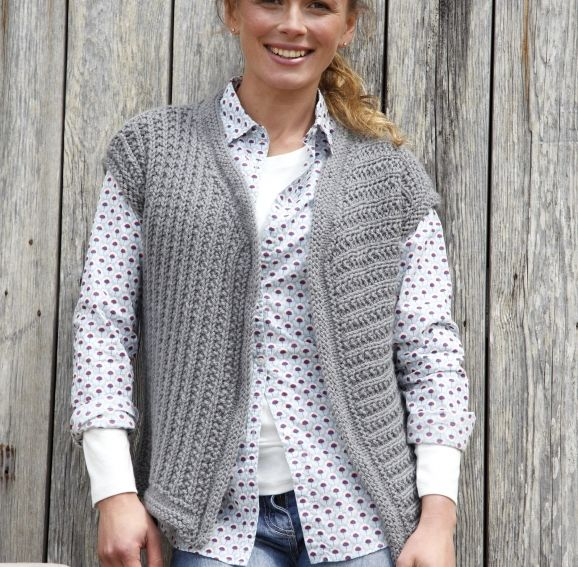 Knitting Pattern Waistcoat Free : 78 Best images about knitted waistcoats for adults on Pinterest Cable, Drop...