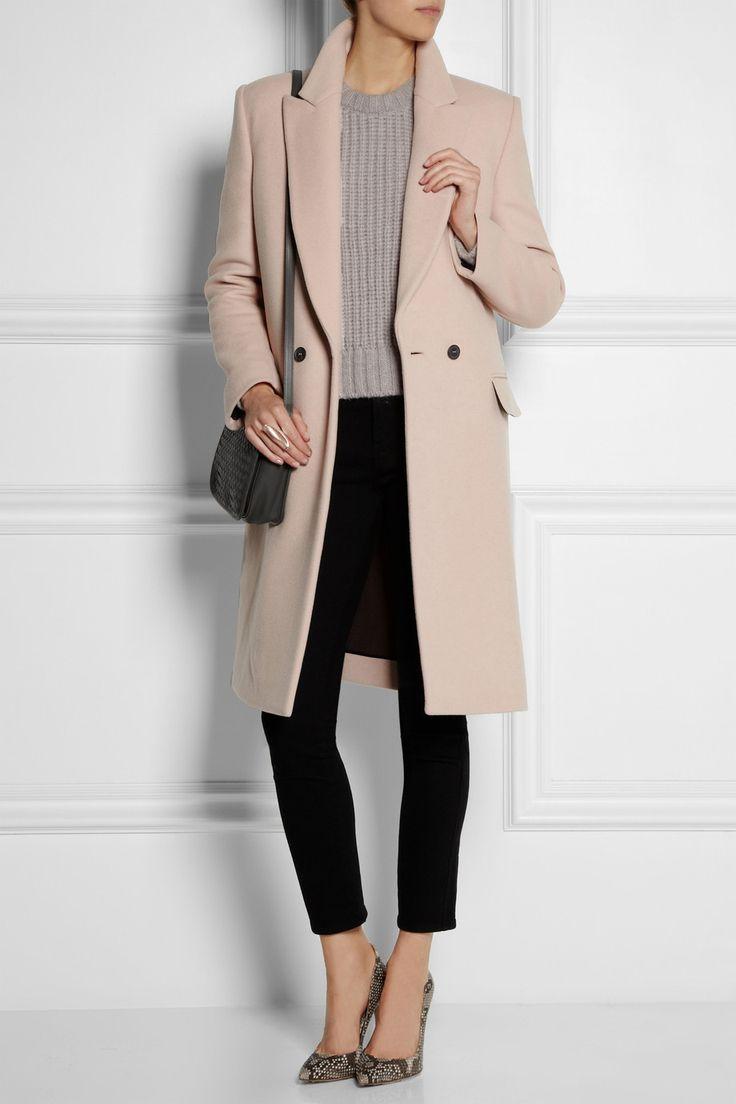 Cédric Charlier Wool-blend felt coat NET-A-PORTER.COM