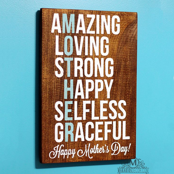 Mother's Gift Sign