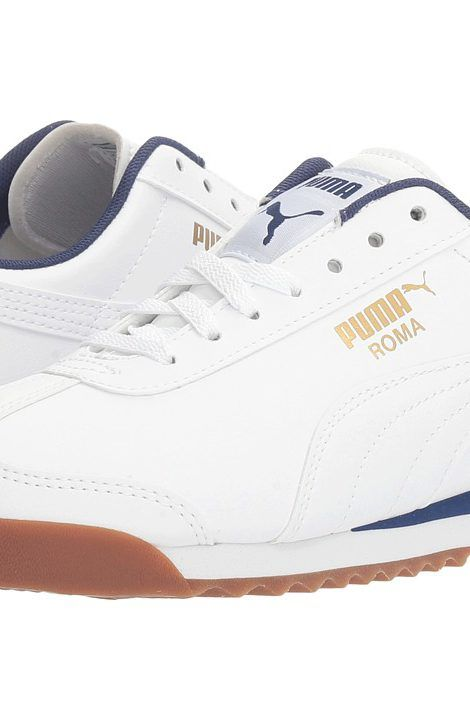Puma Kids Roma Basic Jr (Big Kid) (Puma White/Puma White) Kids Shoes - Puma Kids, Roma Basic Jr (Big Kid), 35425941-100, Footwear Closed Lace up casual, Lace up casual, Closed Footwear, Footwear, Shoes, Gift - Outfit Ideas And Street Style 2017