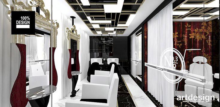 No1 | Studio Urody | Wnętrze salonu fryzjersko-kosmetycznego
