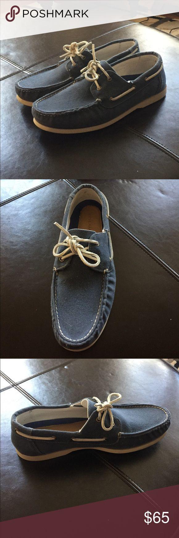 Cole Haan blue boat shoes Cole Haan men's size 11 blue boat shoes. Worn once. Cole Haan Shoes Boat Shoes