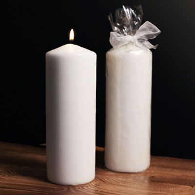 """""""Alabaster Tower"""" Large Pillar Candle RB5747-9WW-RB"""