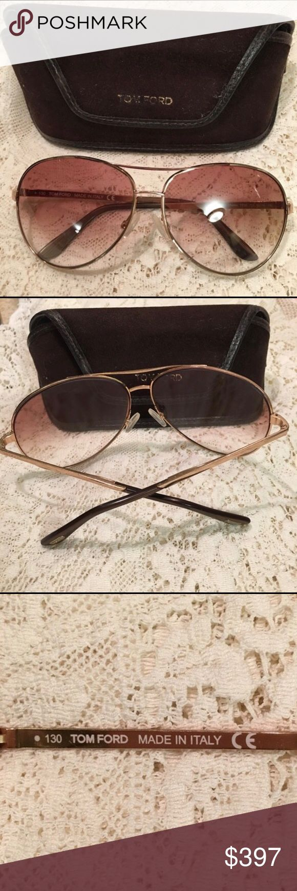 Top Ford Shades! Men's Tom Ford Shades! (Sorry for the Lace background.) Purchased at the Tom Ford store in Vegas. (Bundle 3 Listings & Save with my Discount!) Tom Ford Accessories Glasses