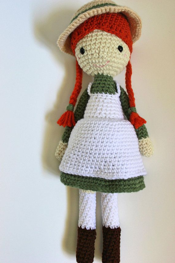 Crochet Anne Of Green Gables Doll Stuffed Toy Made To Order