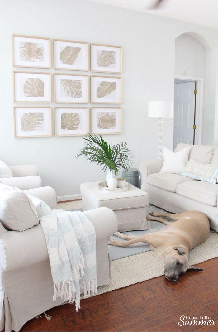 Serene Neutral White Coastal Chic Living Room Coastal Chic Living Room Coastal Decorating Living Room Beach Decor Living Room