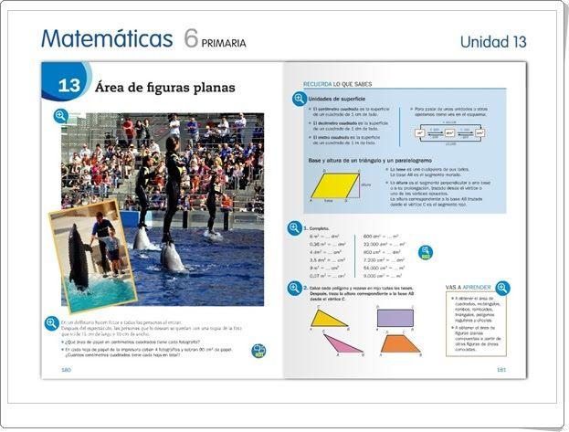 """Unidad 13 de Matemáticas de 6º de Primaria: """"Área de figuras planas"""""""