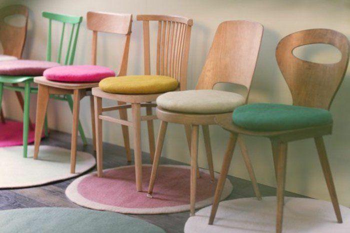 galettes de chaises rondes, design pour une galette de chaise