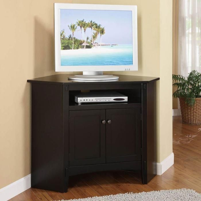 Corner Tv Cabinet Door Corner Tv Stands At Brookstone Buy Now