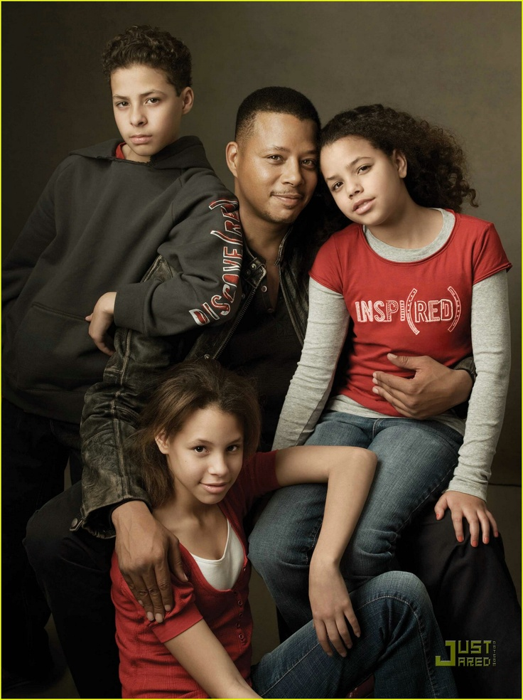 Terrence Howard and his children
