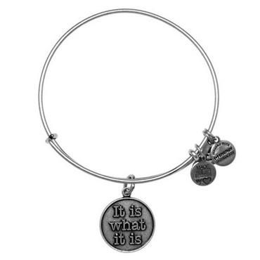 Alex and Ani It Is What It Is Charm Bangle Bracelet - Russian Silver Finish - Item 19278449 | REEDS Jewelers