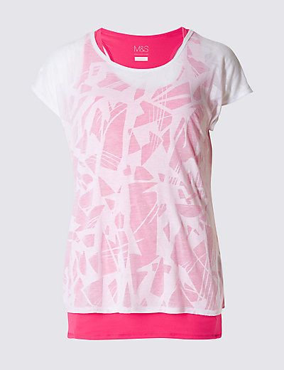 Double Layer T-Shirt | M&S