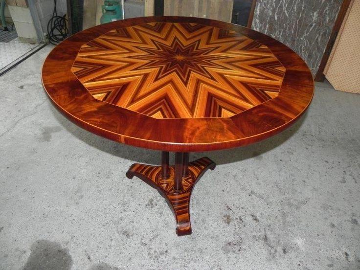 Edler kunstvoll eingelegter Original Biedermeier Tisch ca.1860