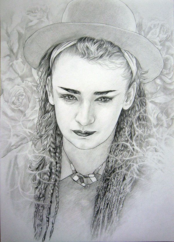 Boy George | Boy george, Sketches, Art music