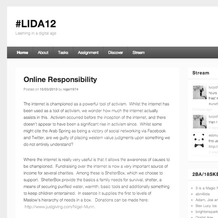 LIDA blogs