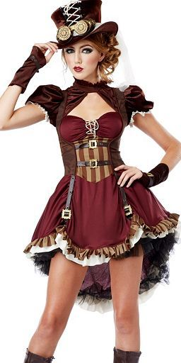 Teen Girl's Steampunk Girl Costume at Wholesale Prices
