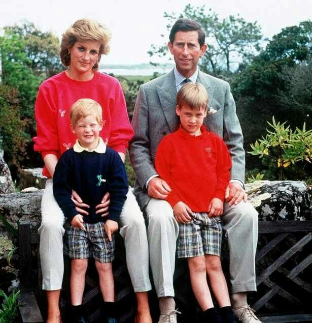 Diana And Charles With Sons William Right And Harry During Their Holiday In The Scilly Isles 1989
