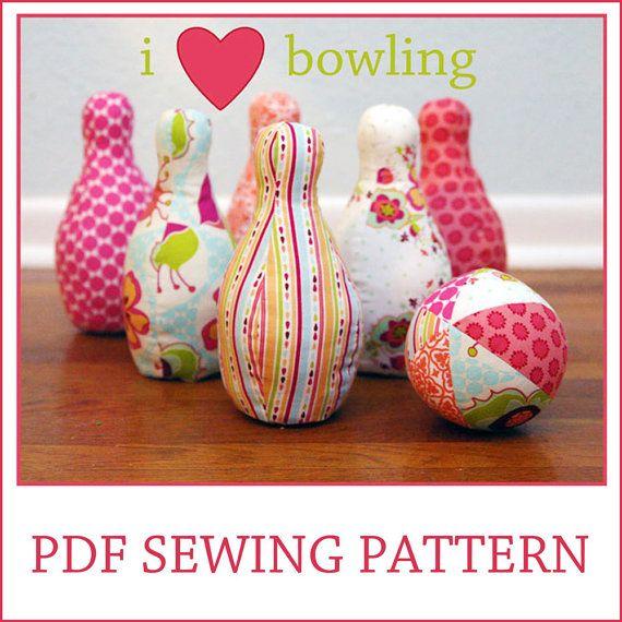 bowling PDF sewing pattern