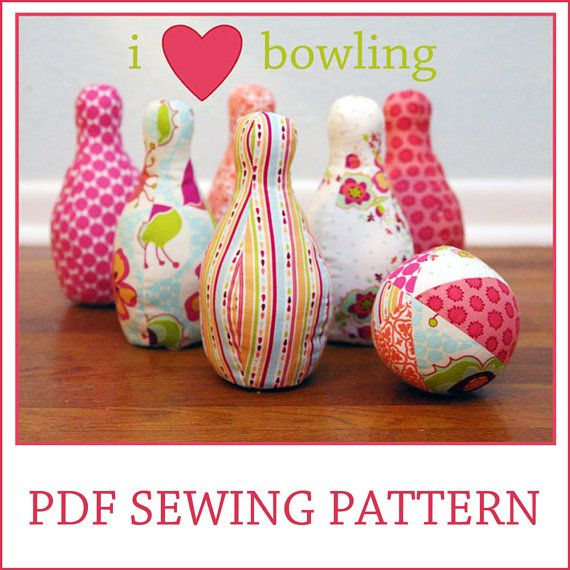 Every kid I know loves to throw (er, roll) balls and knock stuff over. A bowling set is a perfect handmade gift!