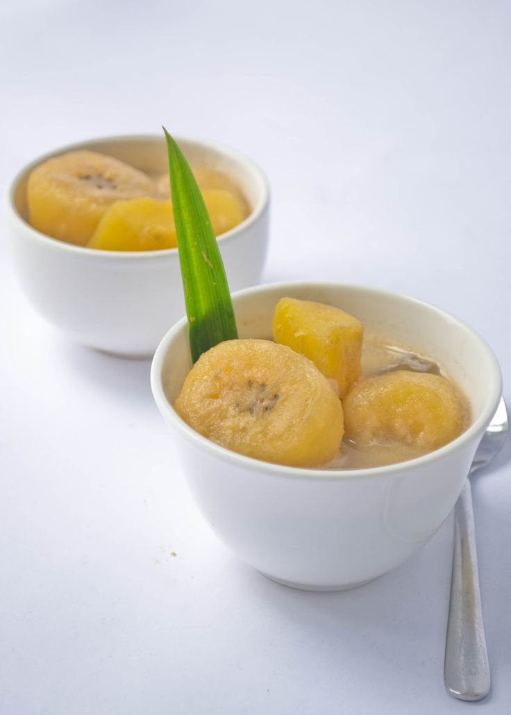 Stewed Banana Compote with Coconut Milk (Kolak Pisang) – an everyday dessert–very economical to make–this can be served cold or warm. A favorite snack for open-fasting at Ramadhan, this is eaten all year long.