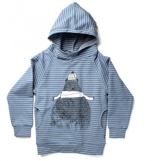 Minti Warm Bear Pocket Hood - Blue/Grey - Ragamuffins New Zealand