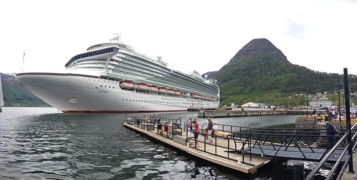 """A breathtaking panoramic picture of Azura in Andlesnes. Thanks to """"ShedOnBeach"""" for their #ShipShots on Twitter."""