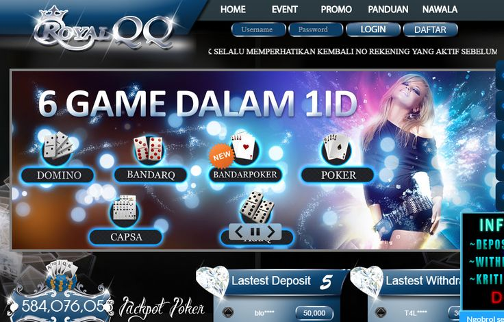 RoyalQQ - Bandar DominoQQ, Poker Online,Terpercaya