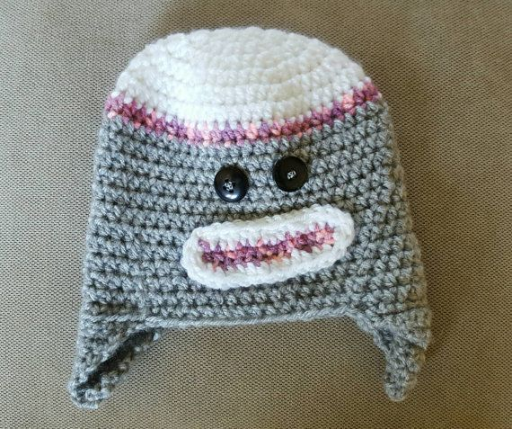 Check out this item in my Etsy shop https://www.etsy.com/ca/listing/255557022/pink-monkey-hat