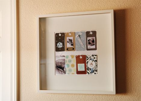 So cute, keepsake frame/display.  The little gift tags- sepia photos, tags with baby's weight and even hospital bracelet.
