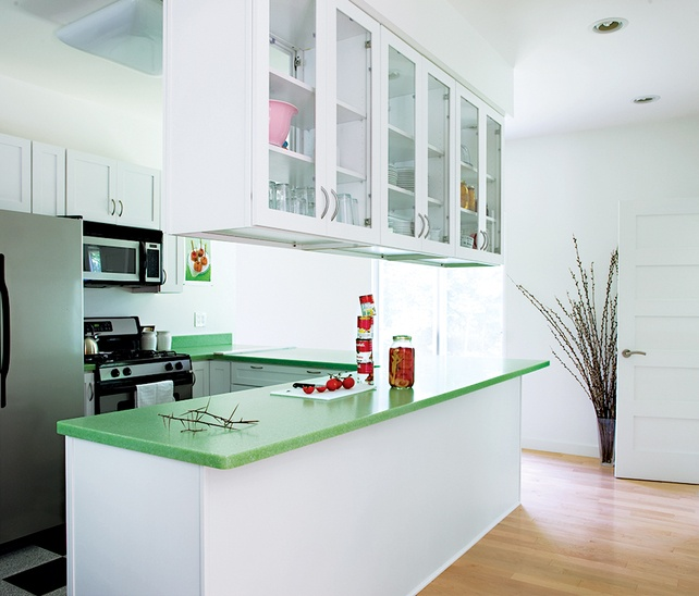 This Would Be Ok To Work With My Green Countertops Without Doing A Major Renovation