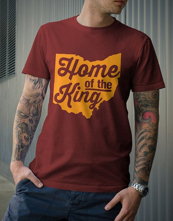 Cleveland Cavaliers - Lebron James Maroon mens t-shirt - Back to Cleveland