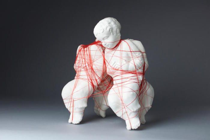Armando Ramos, Portrait of Puissance, porcelain and thread. Featured in Atkinson Gallery at Santa Barbara City College's Office of Loss Control, an exhibit with two of the Art Department's new faculty members Armando Ramos and Stephanie Washburn. Opens Jan. 27. http://sbseasons.com/2017/01/atkinson-gallery-office-of-loss-control/ #sbseasons #sb #santabarbara #SBSeasonsMagazine #SBArt #AtkinsonGallery #SBCC To subscribe visit sbseasons.com/subscribe.html