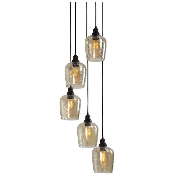 Uttermost Aarush Pendant Lamp (€280) ❤ liked on Polyvore featuring home, lighting, ceiling lights, brown, uttermost pendant lighting, brown shade, amber glass pendant light, brown shades and uttermost lighting