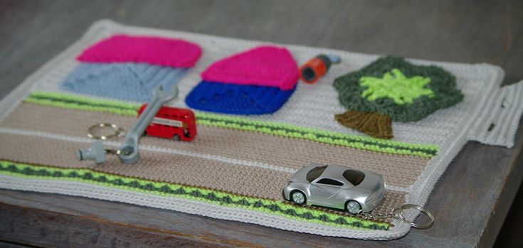 mini garage au crochet