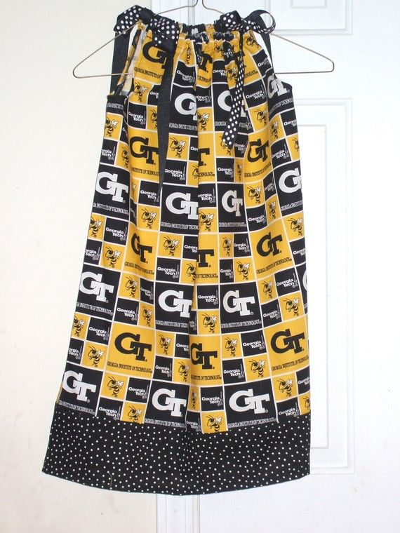 Georgia Tech pillowcase dress size 6m12 18 by CrystalsExpressions, $30.00    Cute dress for my little Georgia Tech fan. I got mine from Duluth Fall Festival 2 years ago.