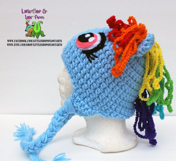 Free Crochet Pattern For Rainbow Dash Hat Dancox For