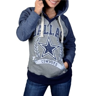 Dallas Cowboys Womens Mitchell & Ness Post Season Hoody | Dallas Cowboys Clothing | Dallas Cowboys Store - Dallas Cowboys Pro Shop