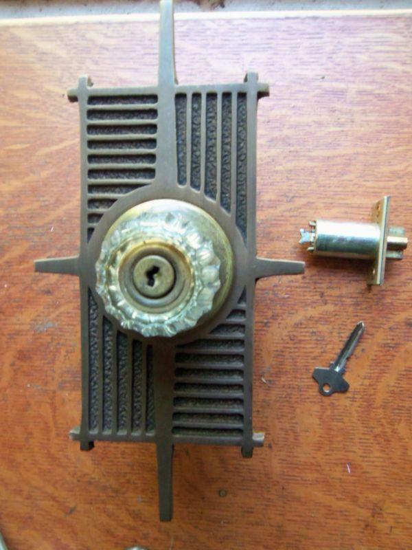 High Quality Mid Century Modern Atomic Era Door Lockset.