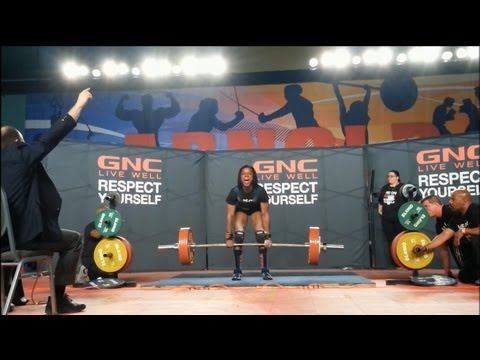 Kimberly Walford 518lb Deadlift at 137lb - 2013 Arnold Classic USAPL GNC Pro Deadlift Challenge - YouTube