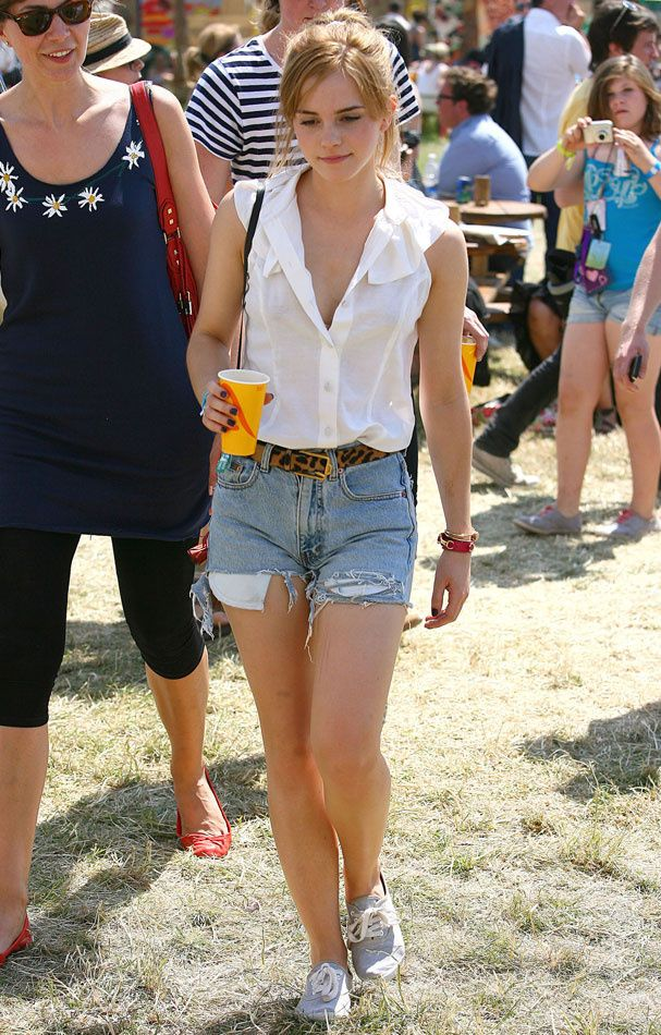 Can't go wrong with a pair of cut off denim shorts and a white shirt, the perfect layed back look. Throw an Alexia Glastonbury scarf over the top for an individual look.