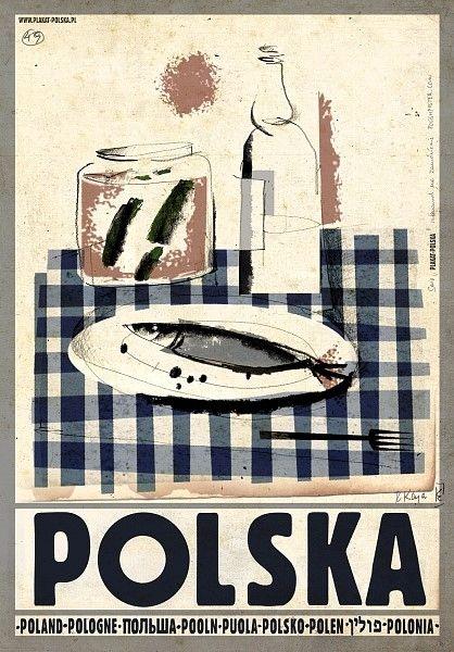 Poland Flaszka i zakaska, Polska Kaja Ryszard Polish Poster