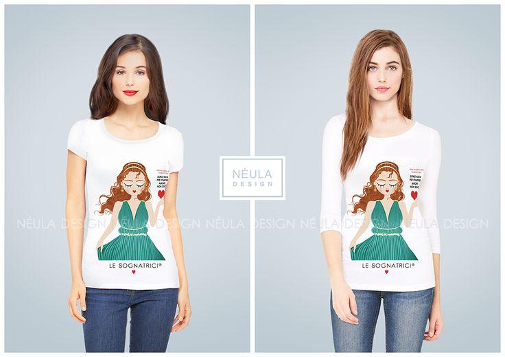 Le Sognatrici T-shirt and 3/4 sleeve - Gift Idea - Woman - Antigone - Fashion -   www.lesognatrici.com