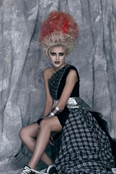 #Vivienne #westwood #punk #queen #Raw #matted #rebellion #hair #hairstyle #fashion #photoshoot #iwantthathair