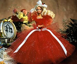 1988 Happy Holiday Barbie - first Holiday Barbie ever... i still cringe when i see pics of me playing with mine on Christmas morning lol... if only i had kept it in the box
