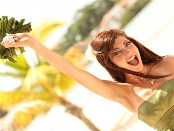 Happy bride at Breezes Jibacoa, Cuba