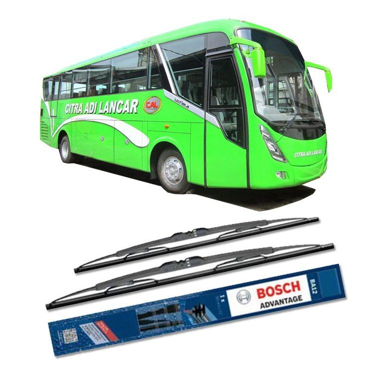 """Bosch Sepasang Wiper Kaca Mobil Bus/Bis Tipe Ultima Advantage 28"""" & 28"""" - 2 Buah/Set  Umur Pakai & Daya Tahan Lebih Lama Penyapuan kaca yang senyap Performa Sapuan Optimal Instalasi Mudah & Cepat Original Produk Bosch  http://klikonderdil.com/with-frame/1197-bosch-sepasang-wiper-kaca-mobil-mobil-busbis-tipe-ultima-advantage-28-28-2-buahset.html  #bosch #wiper #jualwiper #bisultima"""