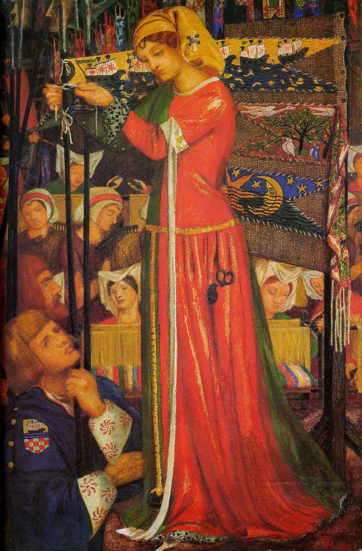 Before the Battle~ Dante Gabriel Rossetti (English, 1828-1882)
