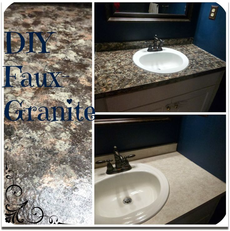 Creating Faux Granite Countertops From Old Formica Ones. Step By Step  Instructions