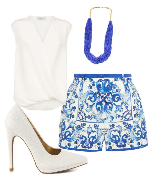 """Pattern Shorts "" by andreea-sydney on Polyvore"