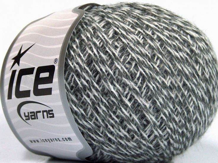 Fiber Content 70% Acrylic, 30% Wool, White, Brand Ice Yarns, Grey, fnt2-52193